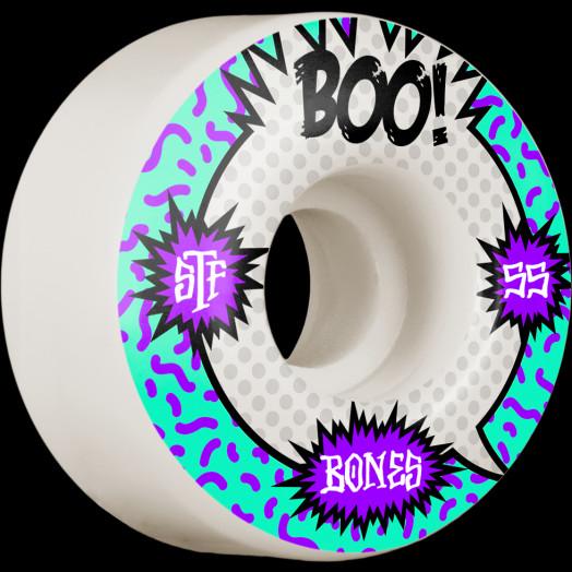 BONES WHEELS PRO STF Skateboard Wheels Boo Raps 55mm V4 Wide 103A 4pk