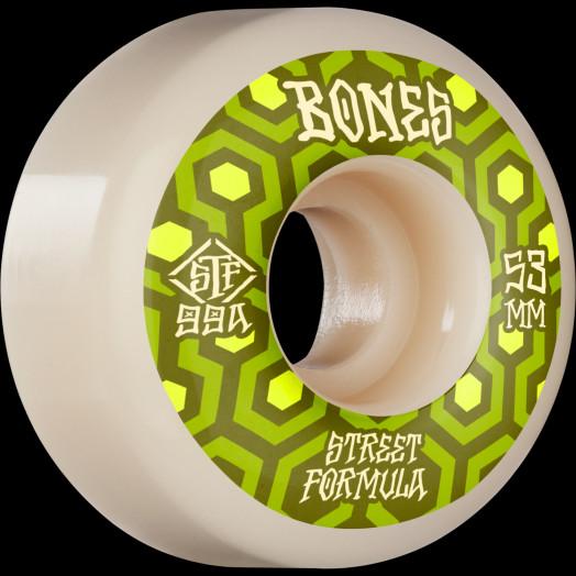 BONES WHEELS STF Skateboard Wheels Retros 53mm V1 Standard 99A 4pk