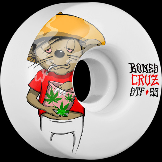 BONES STF Pro Cruz Weedy 53x29 V2 Skateboard Wheel 83B 4pk