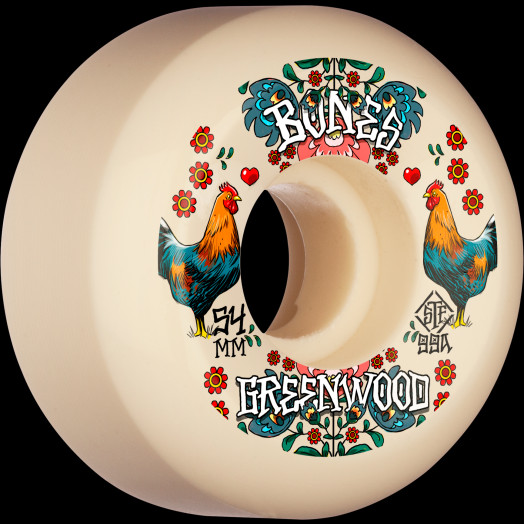 BONES WHEELS PRO STF Skateboard Wheels Greenwood Découpe 54mm V5 Sidecut 99a 4pk