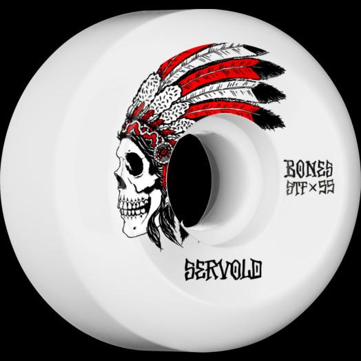 BONES WHEELS STF Pro Servold Spirit Skateboard Wheels V5 55mm 103A 4pk