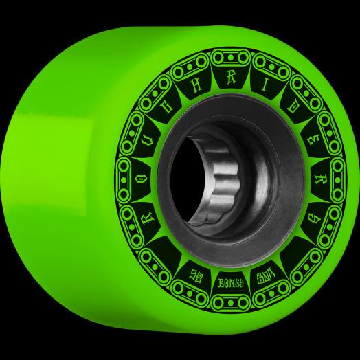 BONES WHEELS ATF Rough Rider Tank Skateboard Wheel 59mm 80a 4pk Green