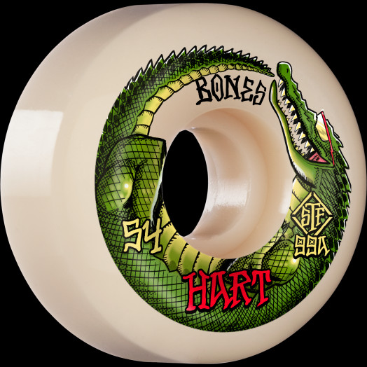 BONES WHEELS PRO STF Skateboard Wheels Hart Speed Gator 54mm V5 Sidecut 99A 4pk