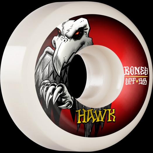 BONES WHEELS PRO SPF Skateboard Wheels Hawk Falcon II 58mm P5 Sidecut 84B 4pk
