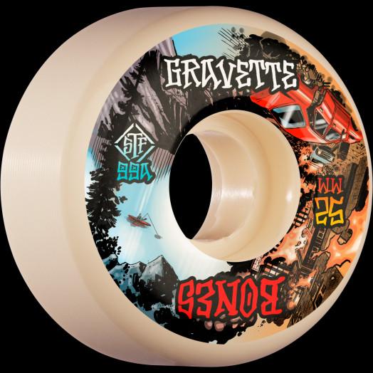 BONES WHEELS PRO STF Skateboard Wheels Gravette Heaven & Hell 52mm V2 Locks 99a 4pk
