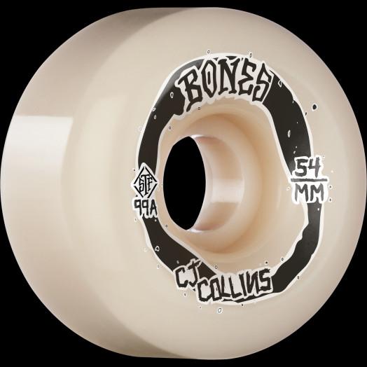 BONES WHEELS PRO STF Skateboard Wheels Collins Swirkle 54mm V6 Wide-Cut 99A 4pk