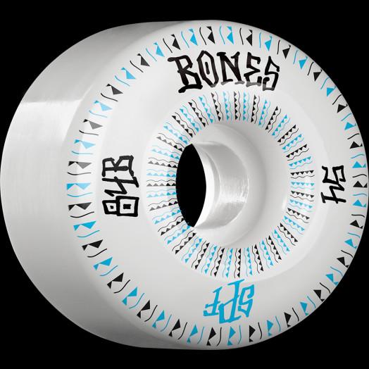 BONES WHEELS SPF Linears Skateboard Wheels 84B Fatties 54mm 4pk White