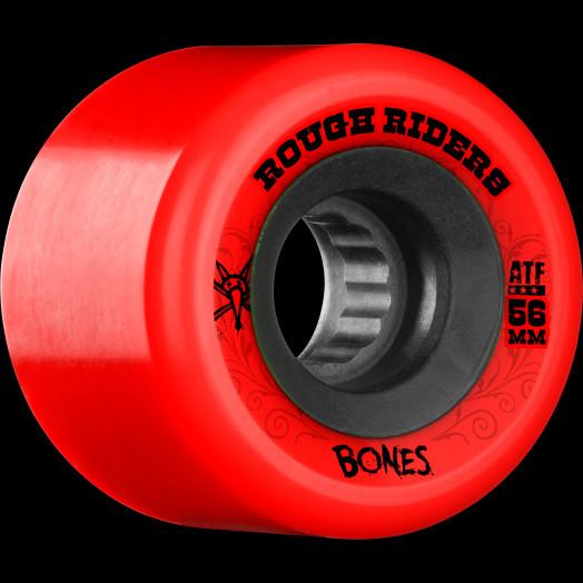 BONES WHEELS Rough Riders Skateboard Wheels 56mm Red Wheel 4pk