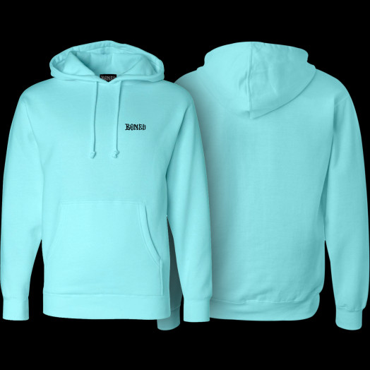 BONES WHEELS Hooded Sweatshirt Mikey Mint