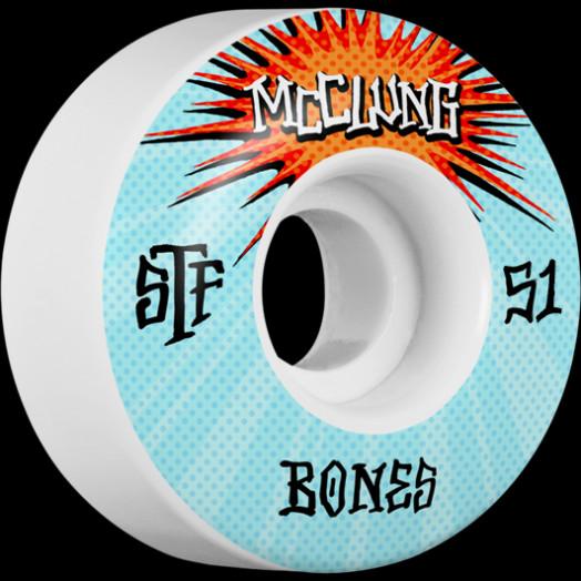 BONES WHEELS STF Pro Trent McClung Blast Skateboard Wheels V1 Standard 51mm 103a 4pk