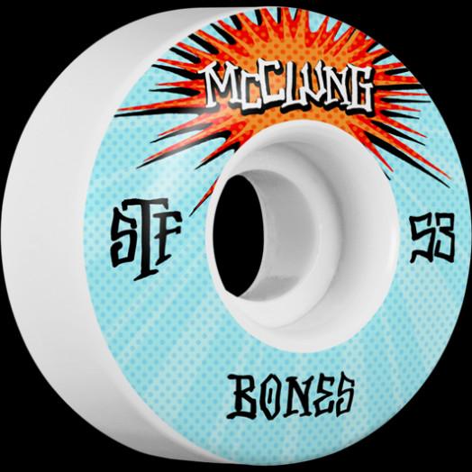 BONES WHEELS STF Pro Trent McClung Blast Skateboard Wheels V1 Standard 53mm 103A 4pk