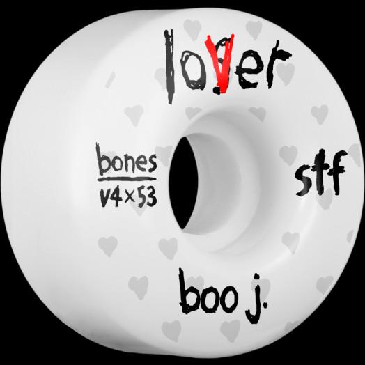BONES WHEELS STF Pro Boo Johnson Lover Skateboard Wheels V4 Wide 53mm 34mm 4pk