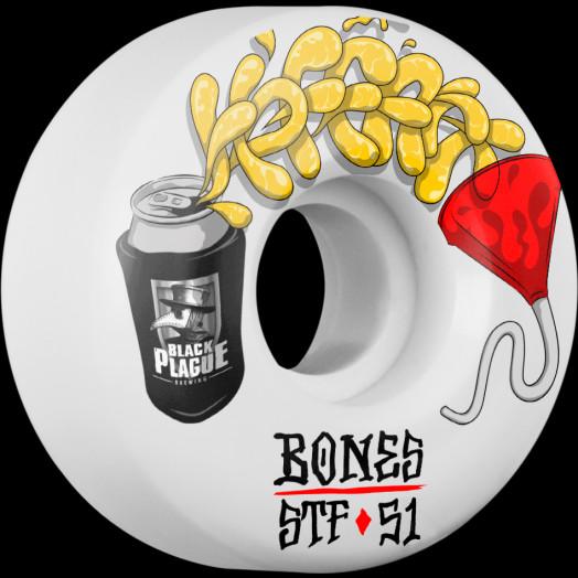BONES WHEELS STF Pro Hoffart Beer Bong Skateboard Wheels V2 Locks 51mm 103a 4pk