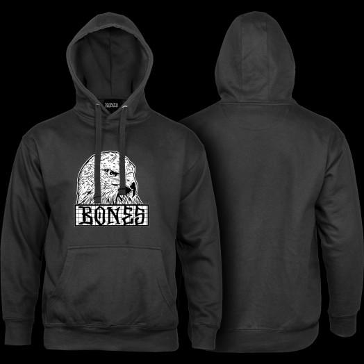 BONES WHEELS Night Hawk Hooded Sweatshirt - Black