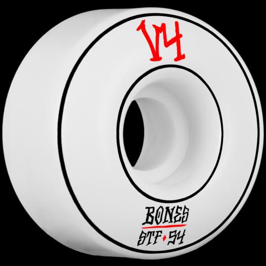 BONES WHEELS STF Annuals Skateboard Wheel Wides 54mm 4pk White