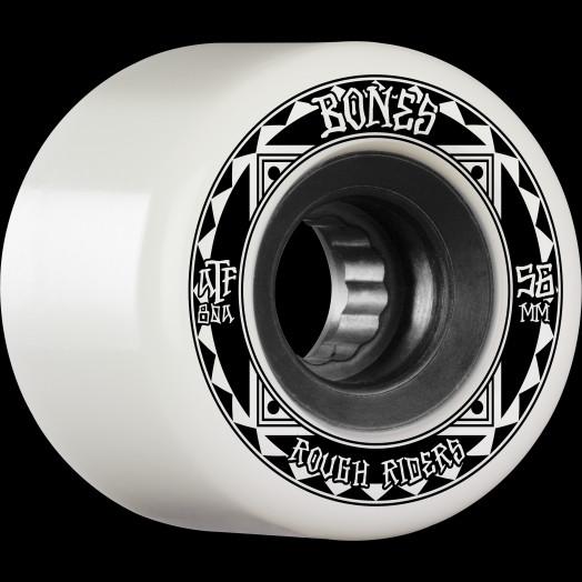 BONES WHEELS ATF Rough Rider Skateboard Wheels Runners 56mm 80a 4pk White