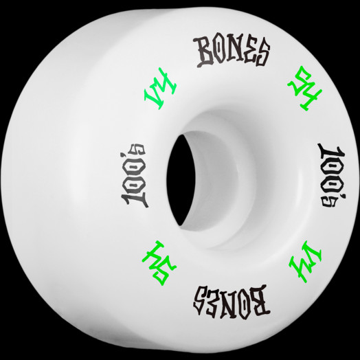 BONES WHEELS 100 Skateboard Wheels V4 Wide 100A 4pk