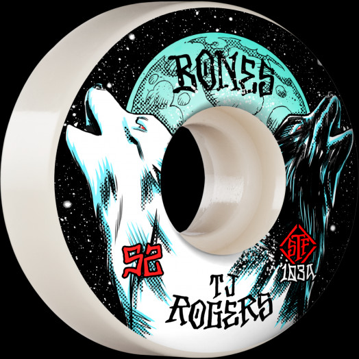 BONES WHEELS PRO STF Skateboard Wheels Rogers Spirit Howl 52mm V3 Slims 103A 4pk