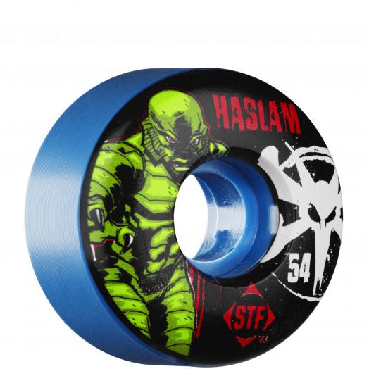 BONES WHEELS STF Pro Haslam Lagoon Wheel 54mm Blue (4 pack)
