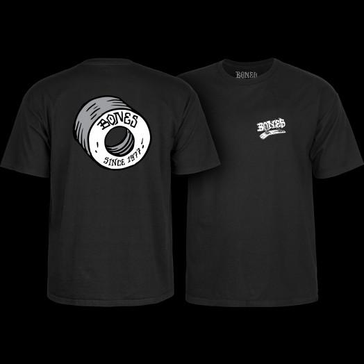 BONES WHEELS Heritage Roots T-Shirt Black