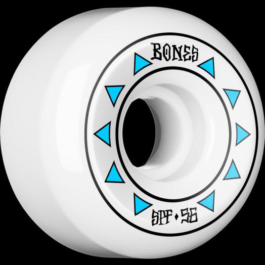 BONES WHEELS SPF Arrows Skateboard Wheels 84B Sidecuts 56mm 4pk White
