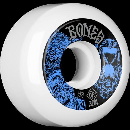 BONES WHEELS STF Time Beasts Skateboard Wheels 53mm 99a  Easy Streets V5 Sidecuts
