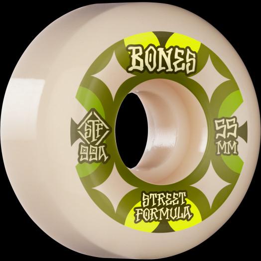 BONES WHEELS STF Skateboard Wheels Retros 55mm V5 Sidecut 99A 4pk