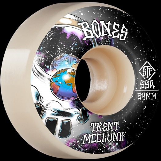 BONES WHEELS PRO STF Skateboard Wheels Trent McClung Unknown 54mm V1 Standard 99A 4pk