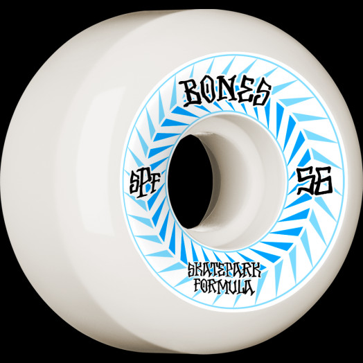BONES WHEELS SPF Skateboard Wheels Spines 56mm P5 Sidecut 84B 4pk White