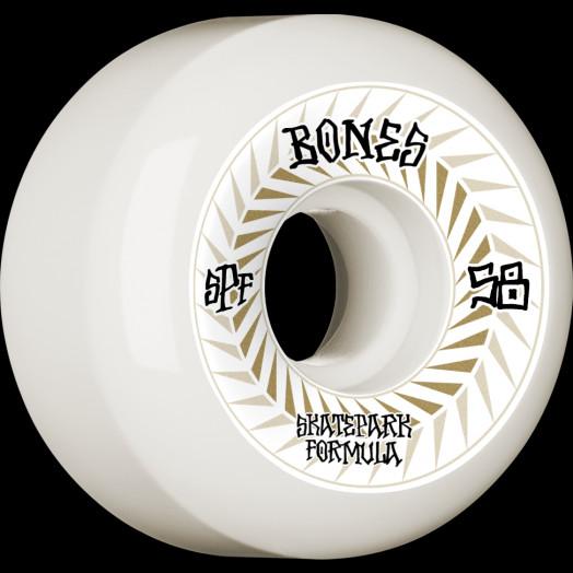 BONES WHEELS SPF Skateboard Wheels Spines 58mm P5 Sidecut 81B 4pk White