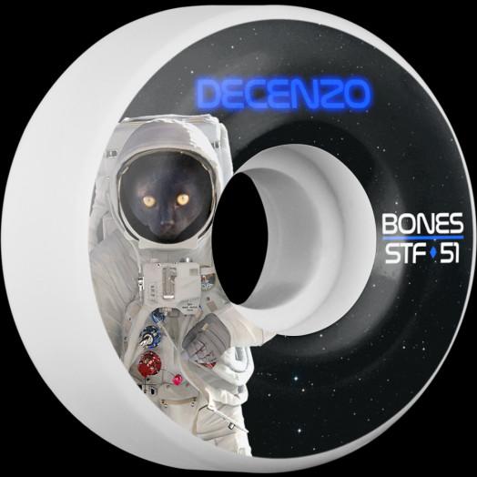 BONES WHEELS STF Pro Decenzo Catsrtonaught Skateboard Wheels V2 Locks 51mm 103A 4pk
