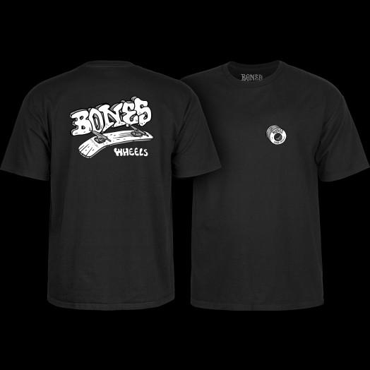 BONES WHEELS Heritage Boneless T-Shirt Black