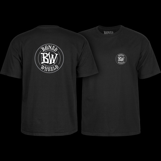 BONES WHEELS Branded T-shirt Black