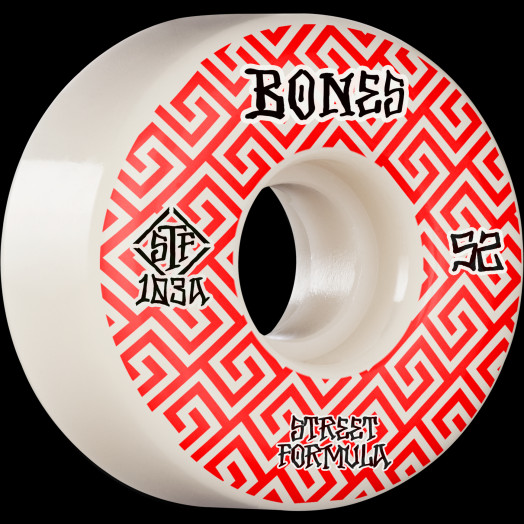 BONES WHEELS STF Skateboard Wheels Patterns 52 V2 Locks 103A 4pk