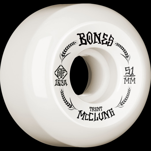BONES WHEELS PRO STF Skateboard Wheels Trent McClung Oats 51mm V5 Sidecut 103A 4pk
