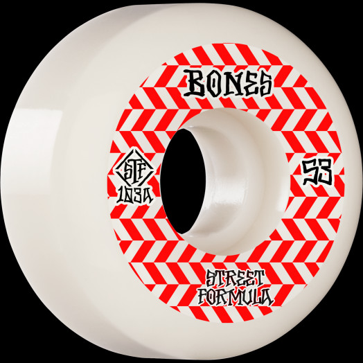 BONES WHEELS STF Skateboard Wheels Patterns 53 V5 Sidecut 103A 4pk