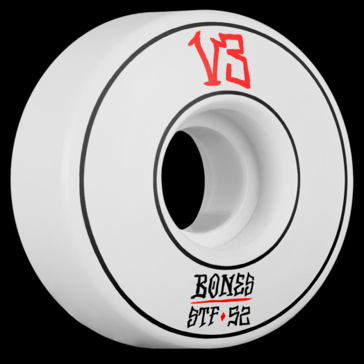 BONES WHEELS STF Annuals Skateboard Wheel Slims 52mm 4pk White