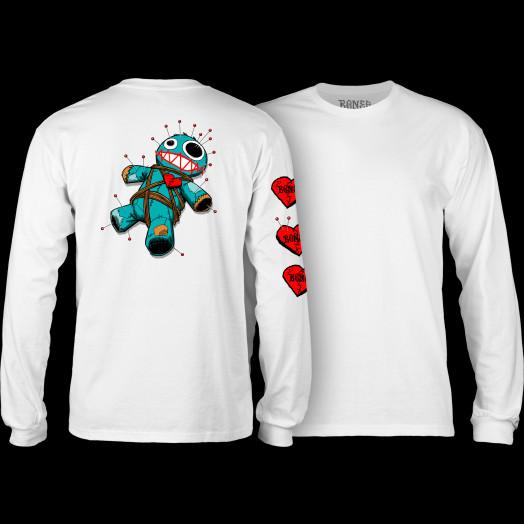 BONES WHEELS VooDoo L/S T-Shirt White