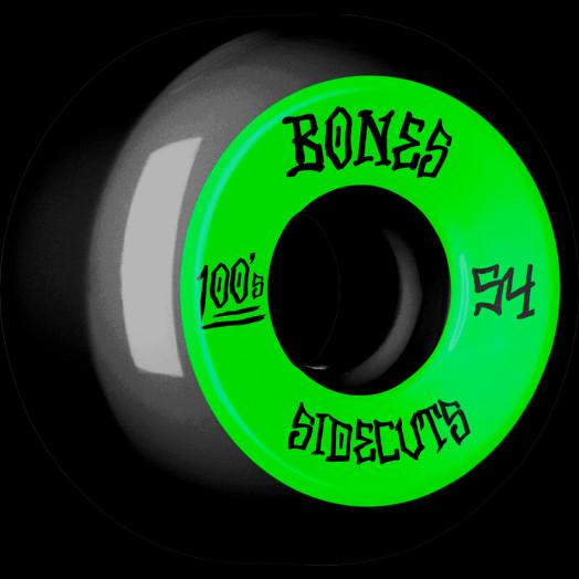 BONES WHEELS 100 #2 V5 Skateboard Wheel 54mm 4pk Black V5 Sidecut