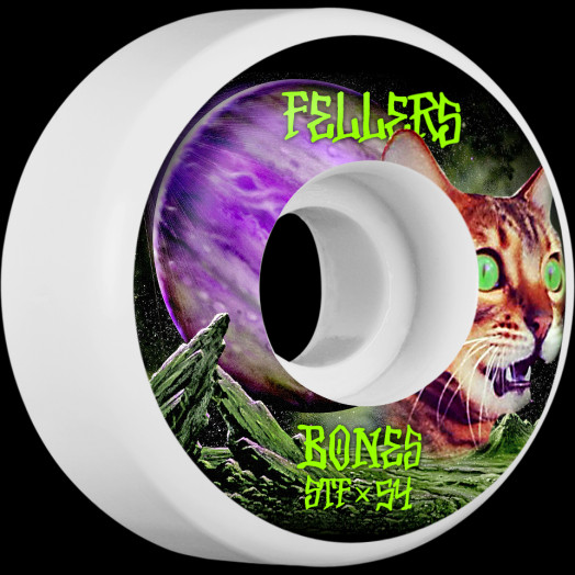 BONES WHEELS STF Pro Fellers Galaxy Cat Skateboard Wheels V3 Slims 54mm 103A 4pk