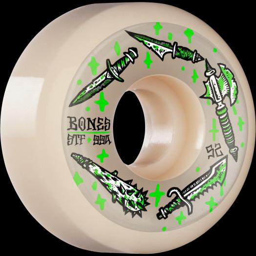 BONES WHEELS STF Skateboard Wheels Dark Days 52mm V5 Sidecut 99a 4pk