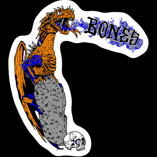 BONES WHEELS Cody Lockwood Dragon Sticker Single