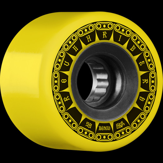 BONES WHEELS ATF Rough Rider Tank Skateboard Wheels 59mm 80a 4pk Yellow