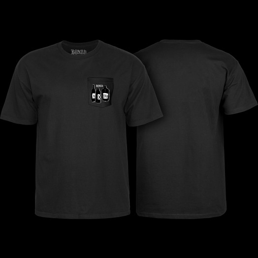 BONES WHEELS Speak East T-shirt w/ Pocket Black