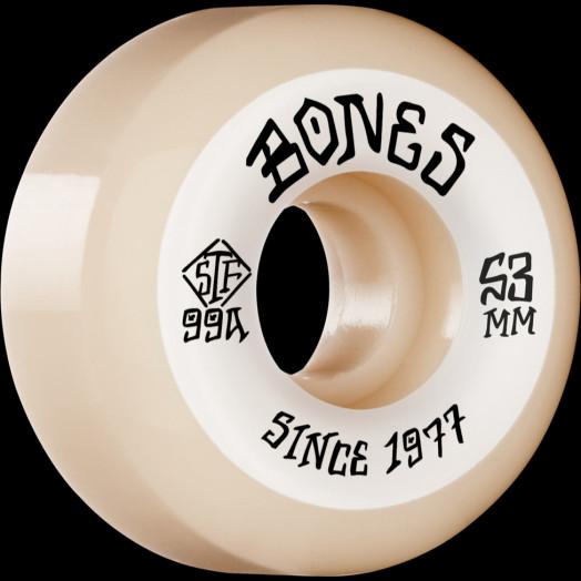 BONES WHEELS STF Skateboard Wheels Heritage Roots 53 V5 Sidecut 99A 4pk