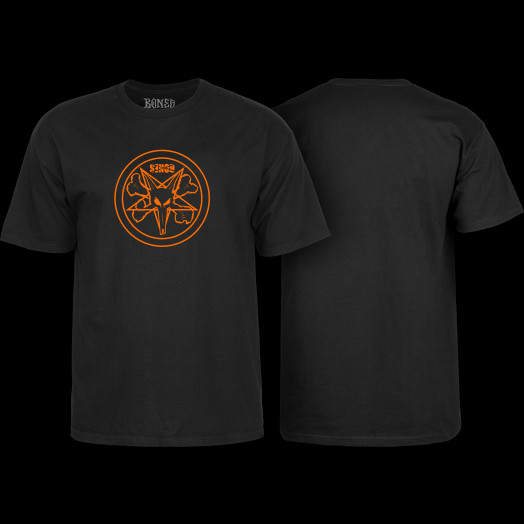 BONES WHEELS Pentagram T-shirt Black