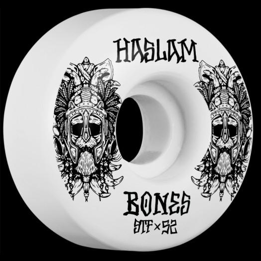 BONES WHEELS STF Pro Haslam Ragnar Skateboard Wheels V3 Slims 52mm 103A 4pk