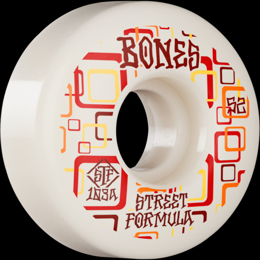 BONES WHEELS STF Skateboard Wheels Retros 52 V3 Slims 103A 4pk