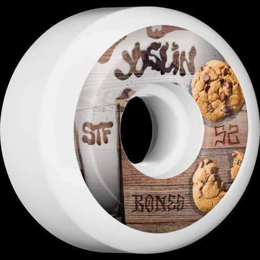BONES WHEELS STF Pro Joslin Cookies Skateboard Wheels V5 Sidecut 52mm 4pk