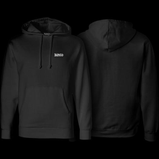 BONES WHEELS Hooded Sweatshirt Mikey Black
